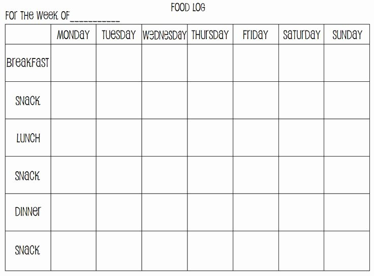 Weekly Food Diary Template New Best 25 Food Log Ideas On Pinterest