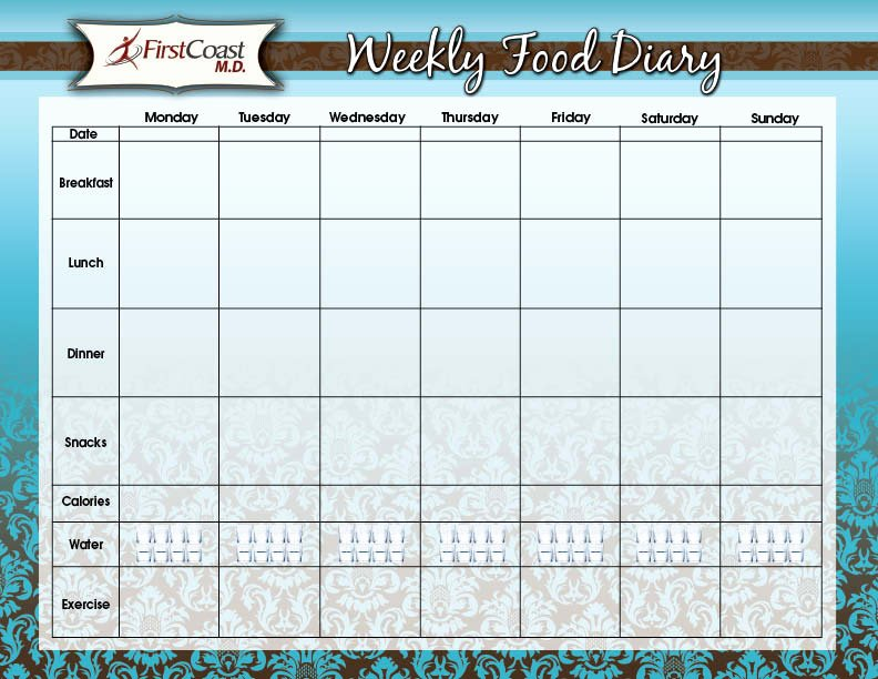 Weekly Food Diary Template Unique Best S Of Weekly Food Diary form Weekly Food Diary