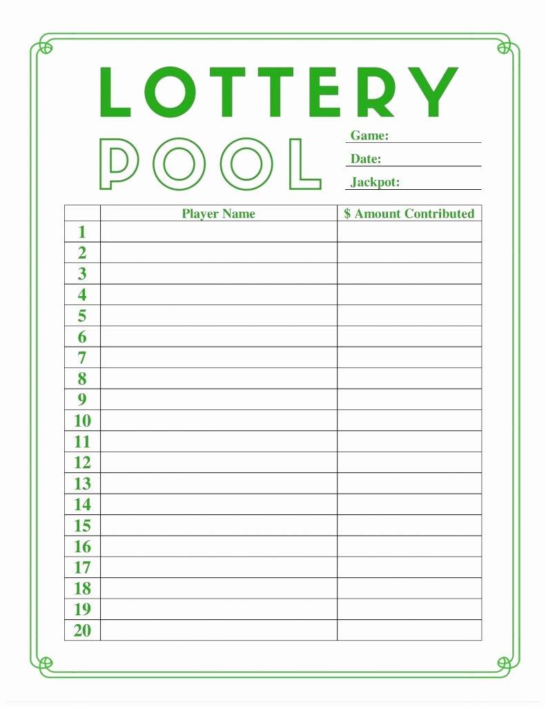 Weekly Football Pool Excel Spreadsheet Fresh Lottery Spreadsheet Template Inside Weekly Football Pool