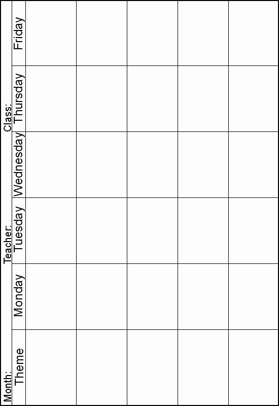 Weekly Lesson Plans for Infants Best Of Weekly Lesson Planner Instead Of theme I Can Print One