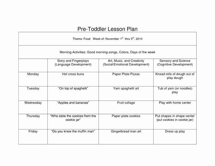 Weekly Lesson Plans for Infants Fresh 39 Best Images About Lesson Plan forms On Pinterest