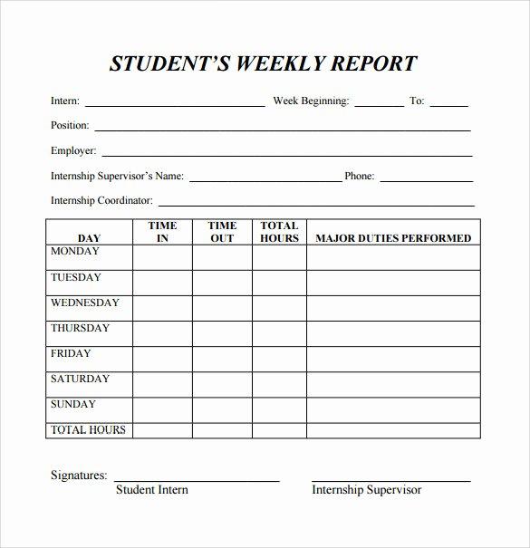 Weekly Progress Report Template Elegant Free 25 Sample Weekly Report Templates In Docs