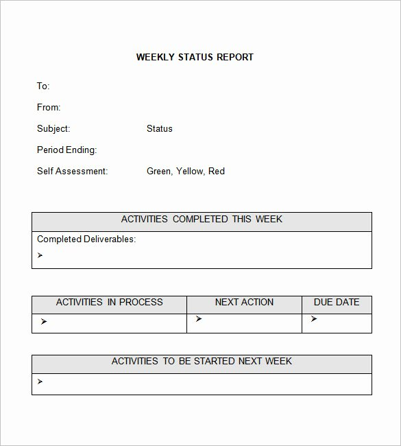 Weekly Progress Report Templates Best Of Weekly Status Report Templates 30 Free Documents