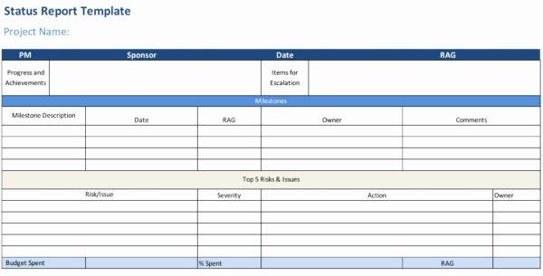 Weekly Progress Report Templates Elegant Status Report Template Projectmanager