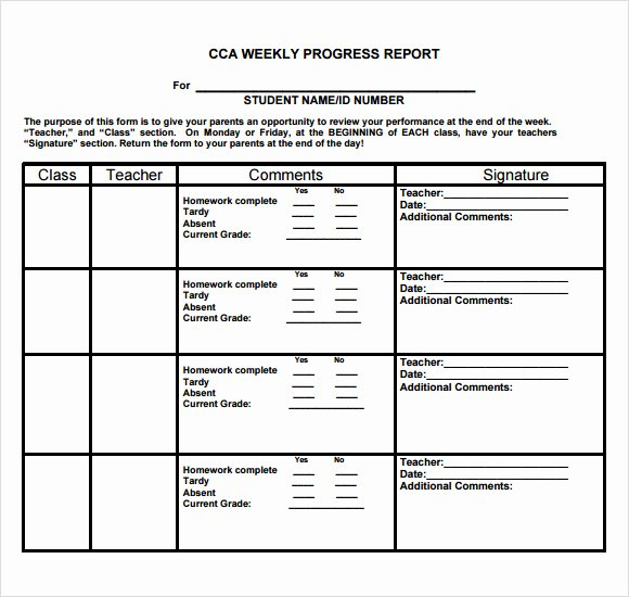 Weekly Progress Report Templates New Sample Weekly Progress Report 13 Documents In Pdf Word