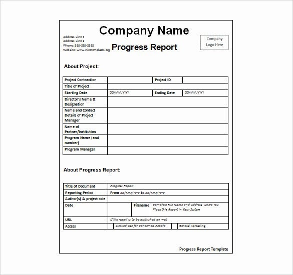 Weekly Progress Report Templates Unique Status Report Template 27 Examples You Can Download Free