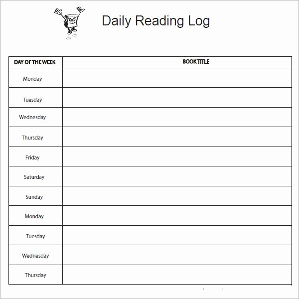Weekly Reading Log Template Beautiful 10 Sample Reading Log Templates – Pdf Word