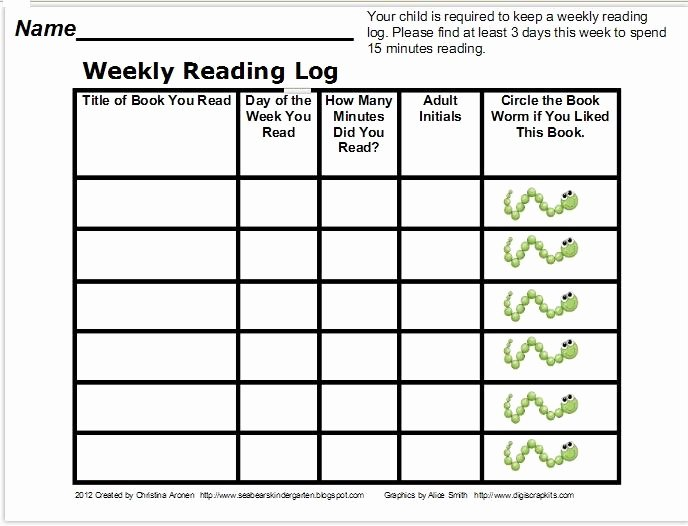 Weekly Reading Log Template New Classroom Freebies too Reading Log Freebie