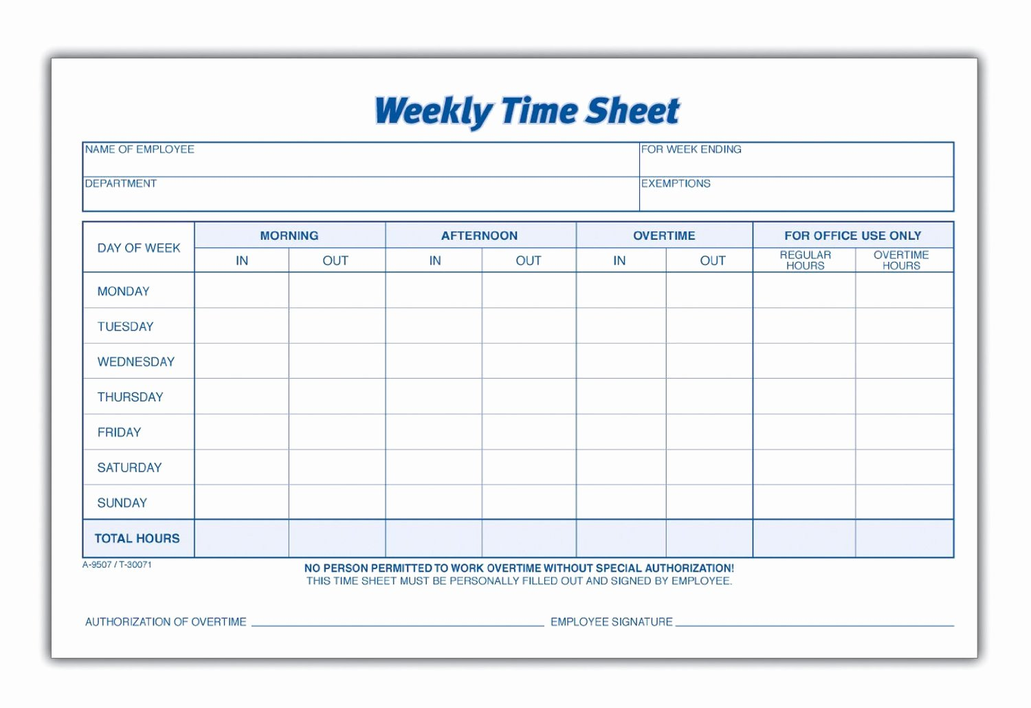 Weekly Sign In Sheet Best Of 8 Best Of Blank Printable Timesheets Free