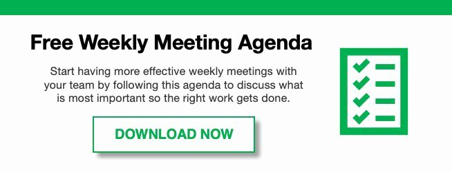 Weekly Staff Meeting Agenda Awesome How to Run Effective Weekly Staff Meetings with Sample