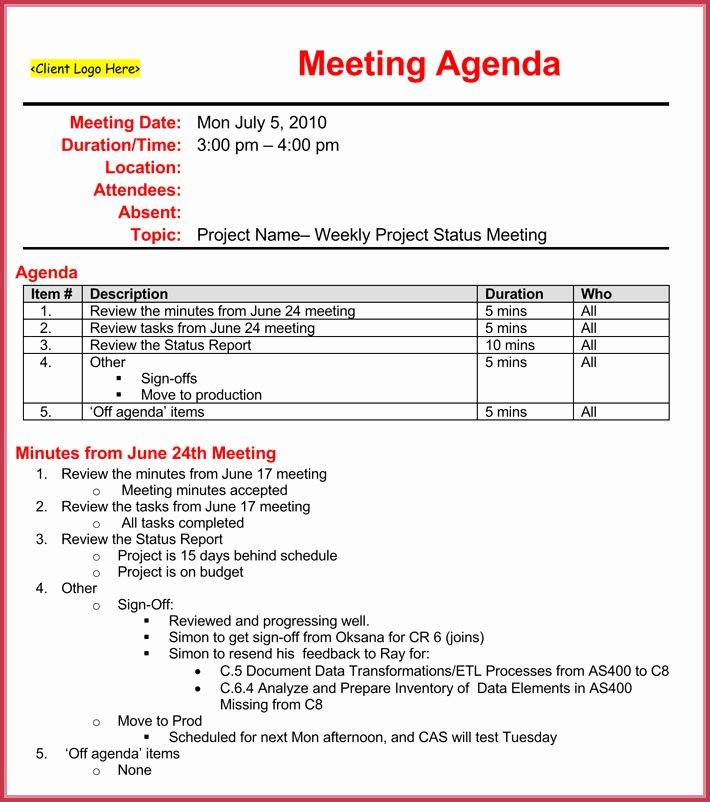 Weekly Staff Meeting Agenda Beautiful Weekly Meeting Agenda Template 9 Samples formats In