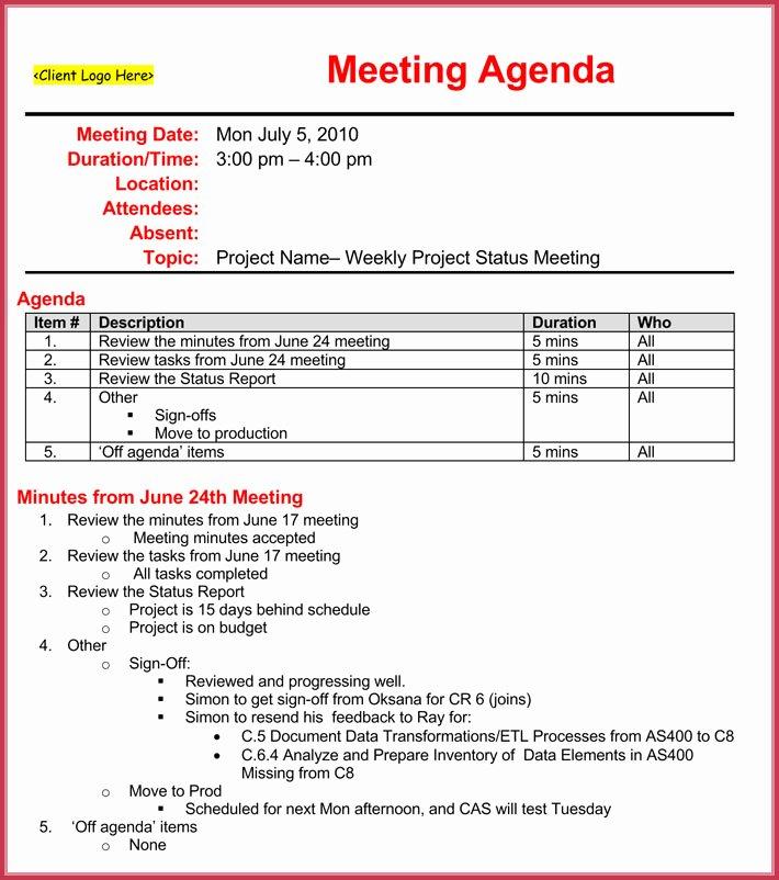 Weekly Staff Meeting Agenda Beautiful Weekly Meeting Agenda Template 9 Samples formats In