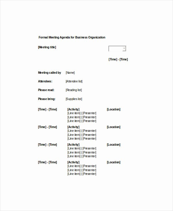 Weekly Staff Meeting Agenda Lovely the Best Of Agenda Samples to Help You Create An Effective