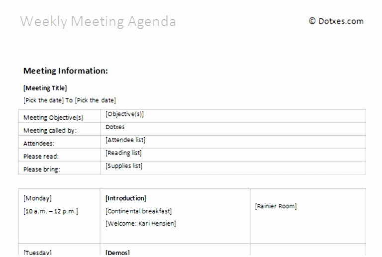 Weekly Staff Meeting Agenda Luxury 9 Weekly Staff Meeting Agenda Template Pttgi