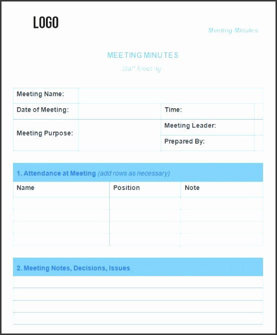 Weekly Staff Meeting Agenda Unique 8 Staff Meeting Minutes Template Sampletemplatess