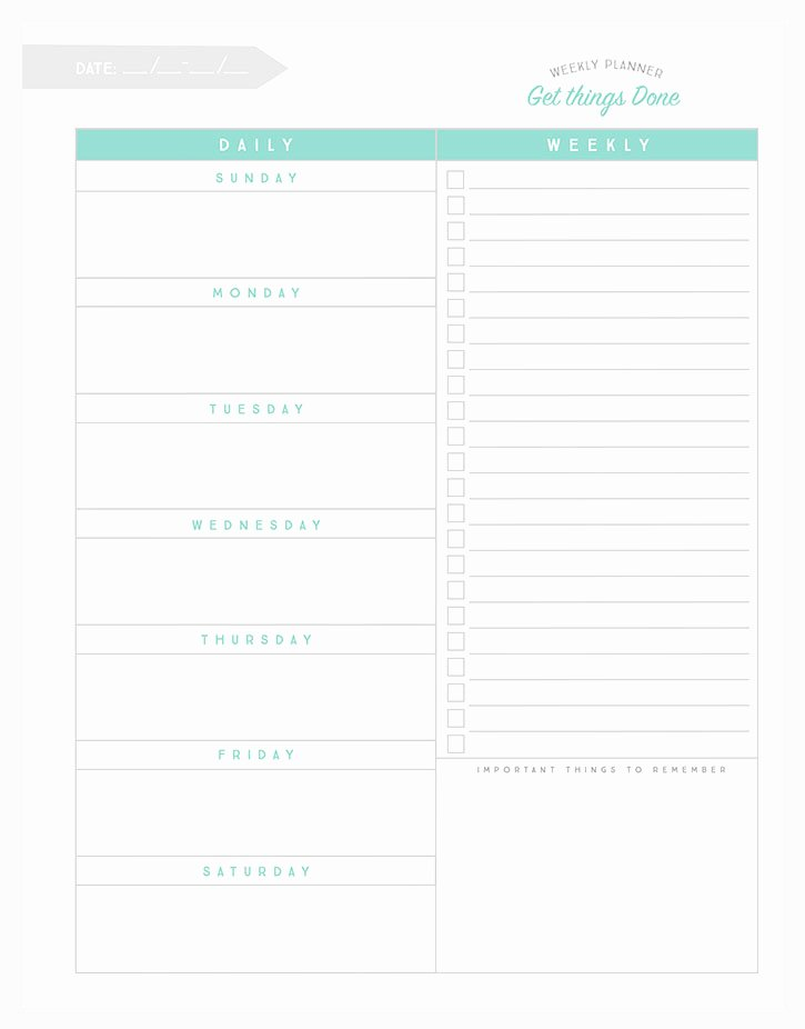 Weekly to Do List Printable Awesome organizational Printables to Streamline Your to Do Lists