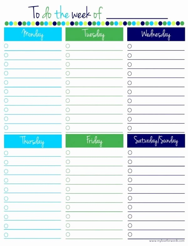 Weekly to Do List Printable Awesome Remodelaholic