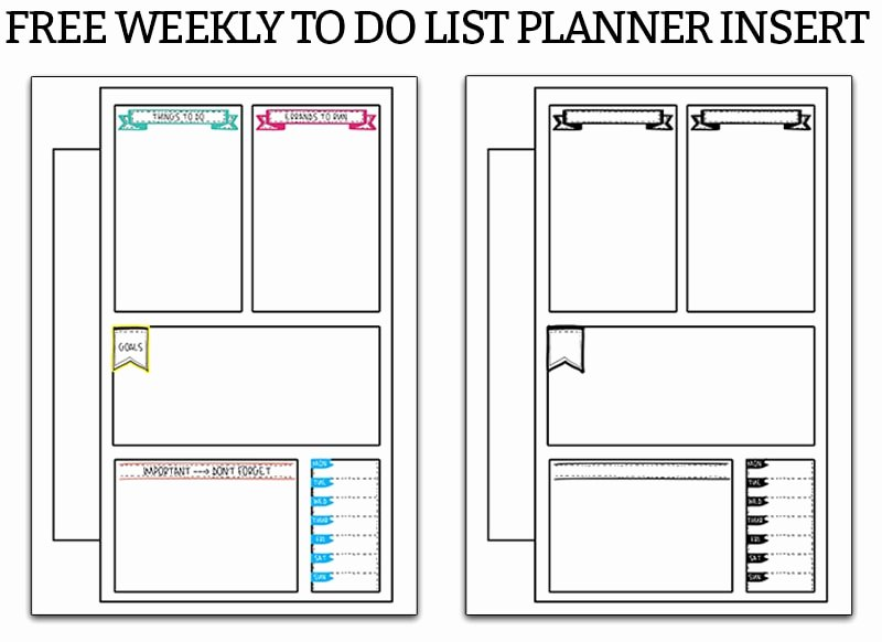 Weekly to Do List Printable Beautiful Weekly to Do List Free to Do Planner Printable