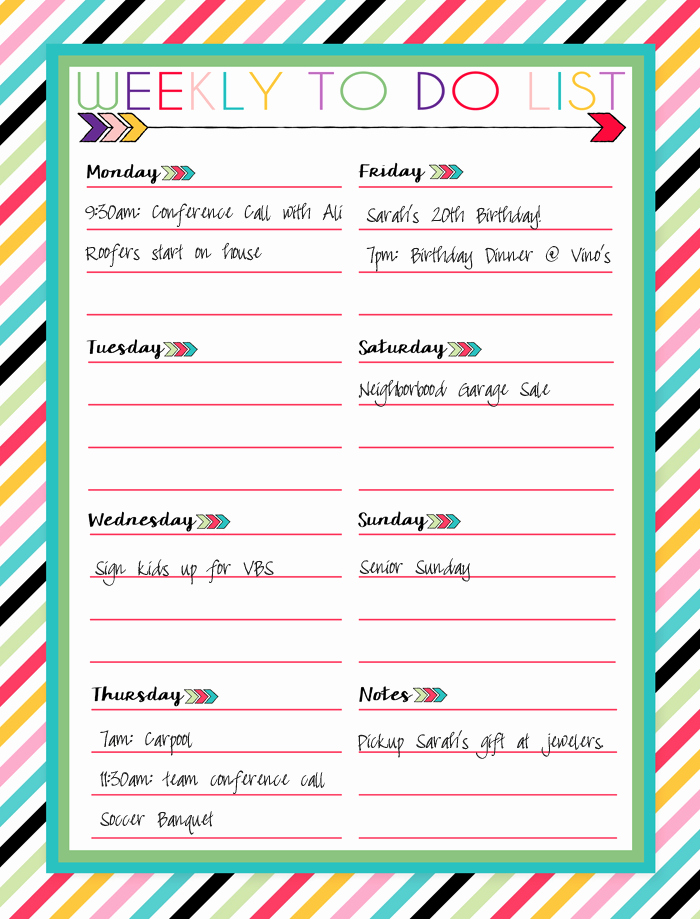 Weekly to Do List Printable Best Of Free Printable Daily Weekly and Monthly Calendars