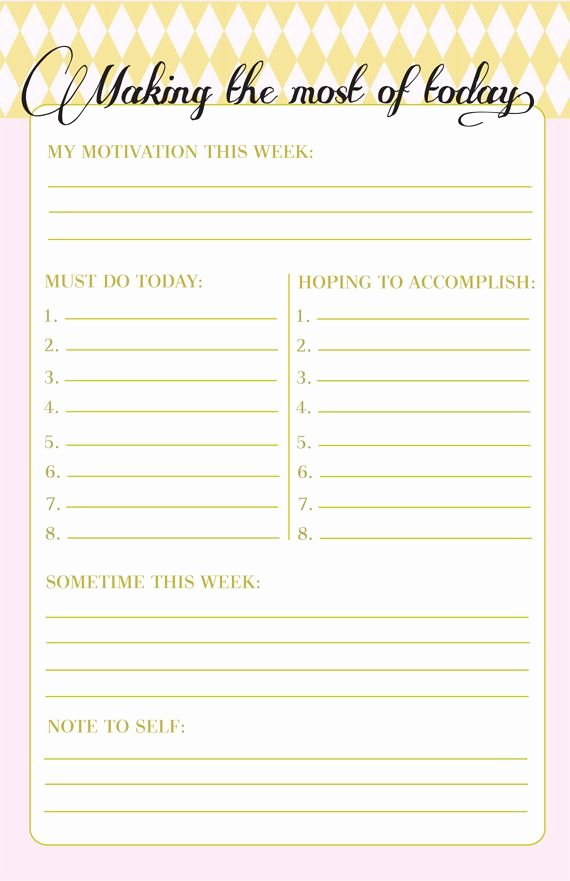 Weekly to Do List Printable Fresh Making the Most Of today Printable to Do List
