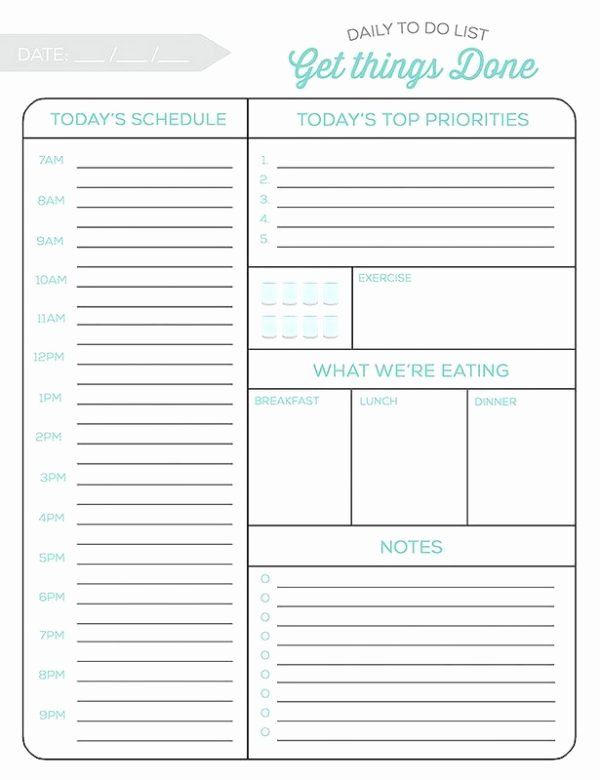 Weekly to Do List Printable Lovely 10 Free Printable Daily Planners