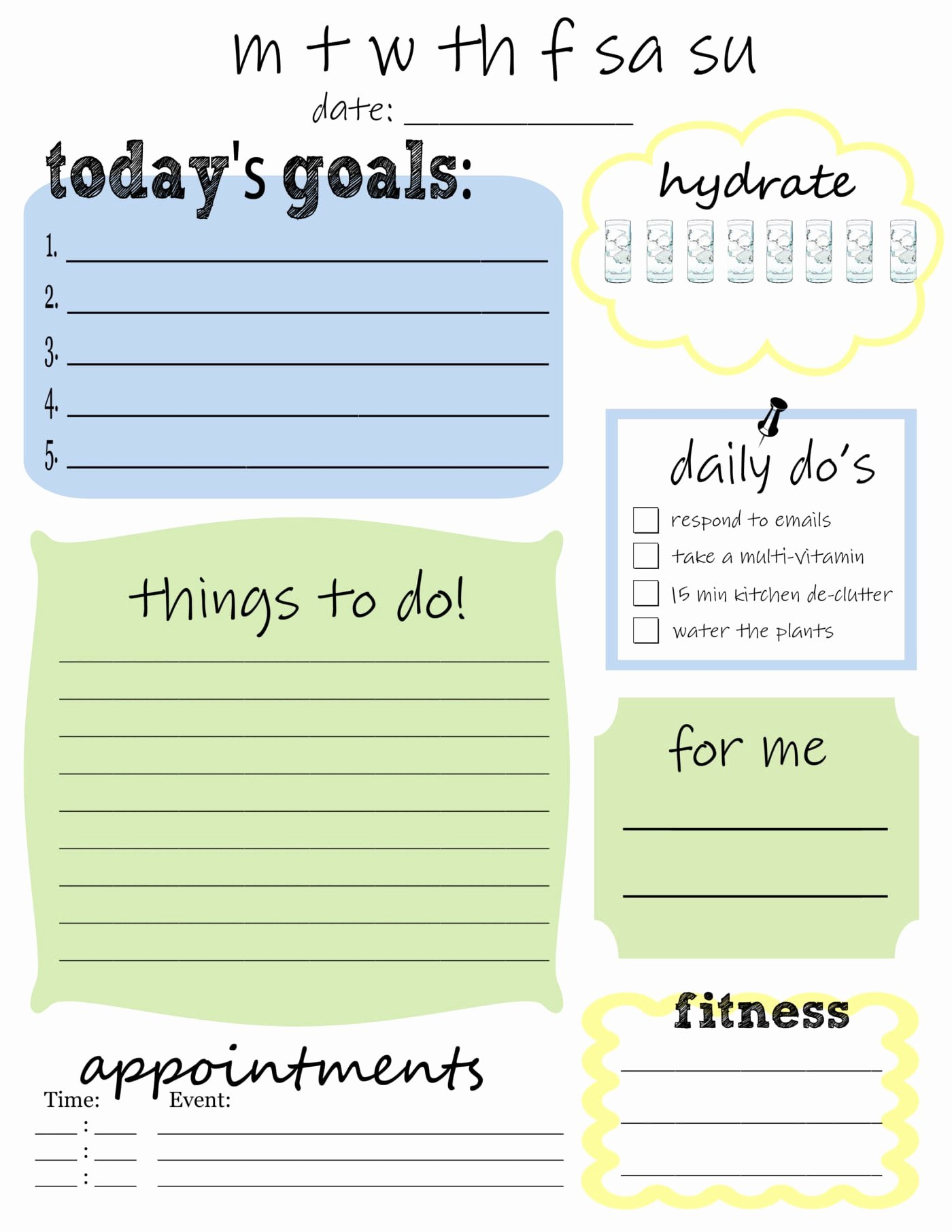 Weekly to Do List Printable New Free Printable Daily to Do List that S What Che Said