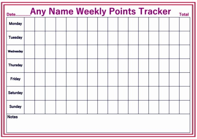Weekly Weight Loss Tracker Fresh Personalised Reusable Diet Weekly Weight Loss Chart Points