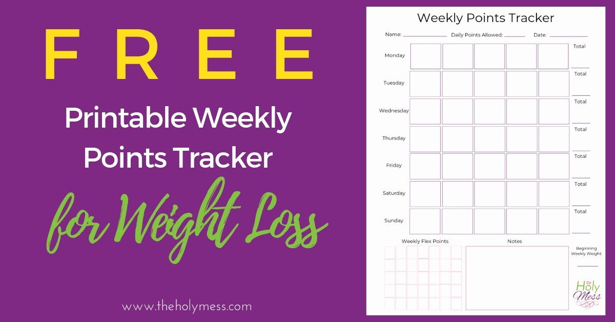 Weekly Weight Loss Tracker New Weekly Points Tracker for Weight Loss Free Printable the