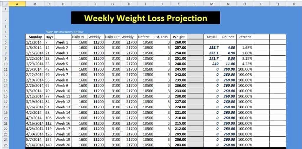 Weekly Weight Loss Tracker Unique 9 Weight Loss Challenge Spreadsheet Templates Excel