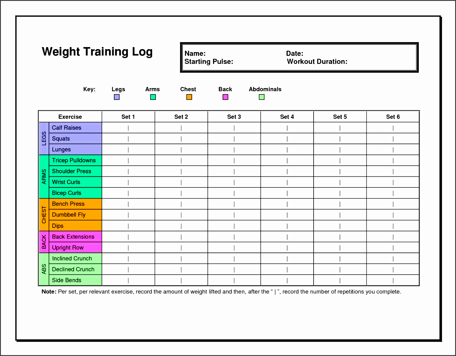 Weekly Workout Planner Template Elegant 7 Exercise Planner Template In Excel Sampletemplatess