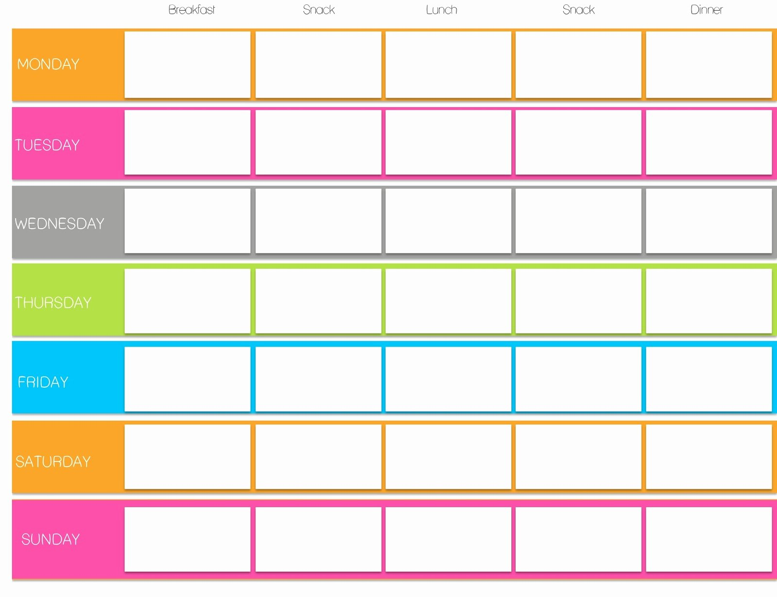 Weekly Workout Planner Template Elegant tone It Up Meg Free Printables