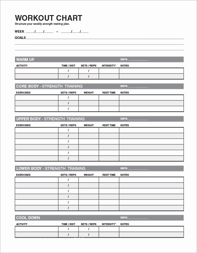 Weekly Workout Planner Template Luxury Free 6 Sample Workout Schedules In Google Docs