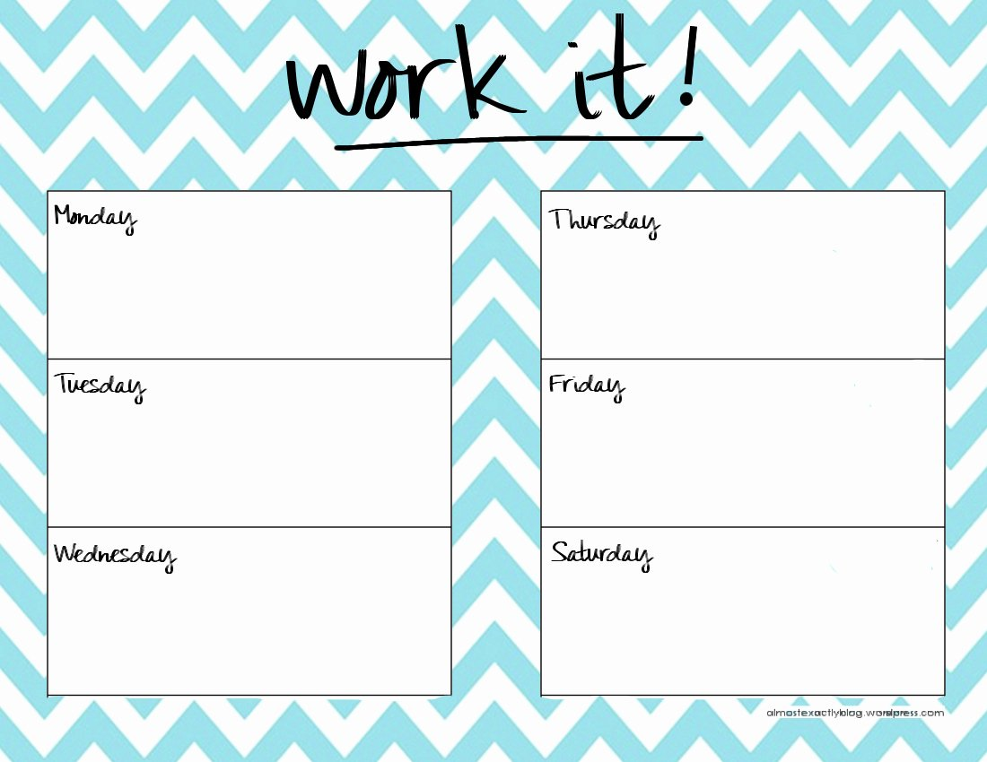 Weekly Workout Planner Template New 301 Moved Permanently