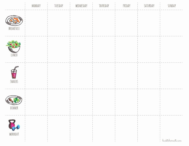 Weekly Workout Planner Template New Menu Exercise Planner Free Printable