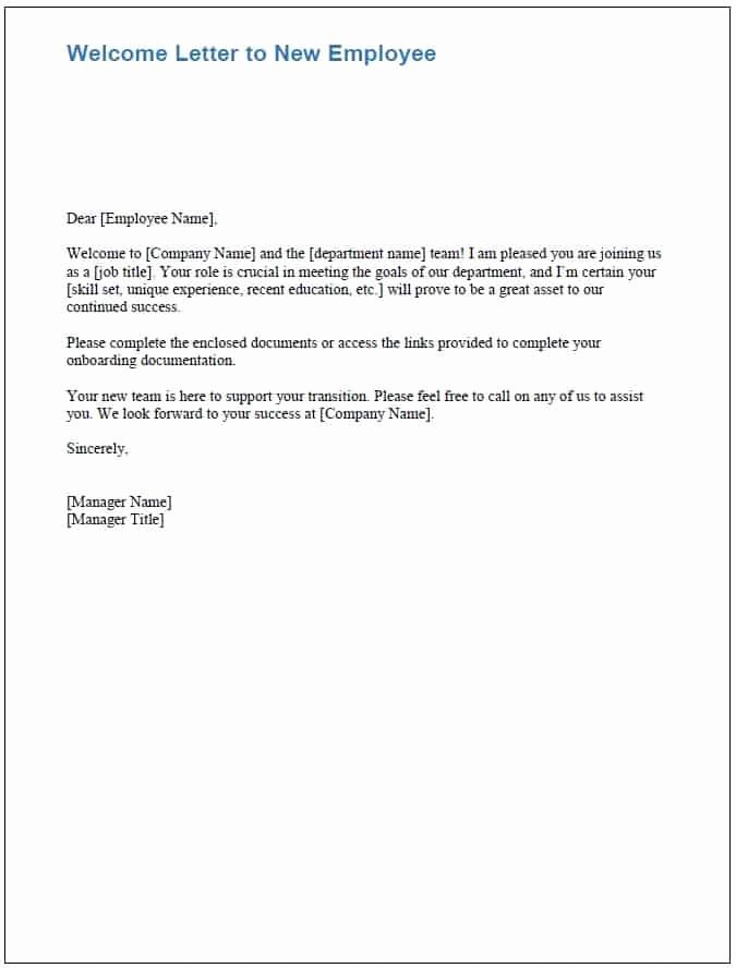 Welcome Letter to New Employee Best Of Free Boarding Checklists and Templates