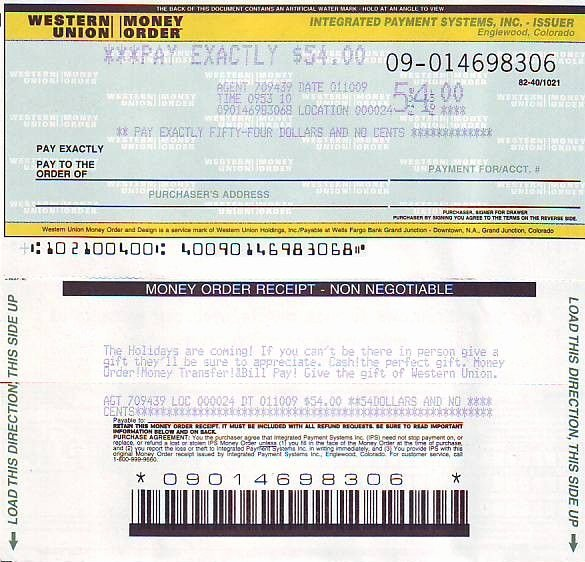 Western Union Money order Template Awesome Picture Western Union Money order