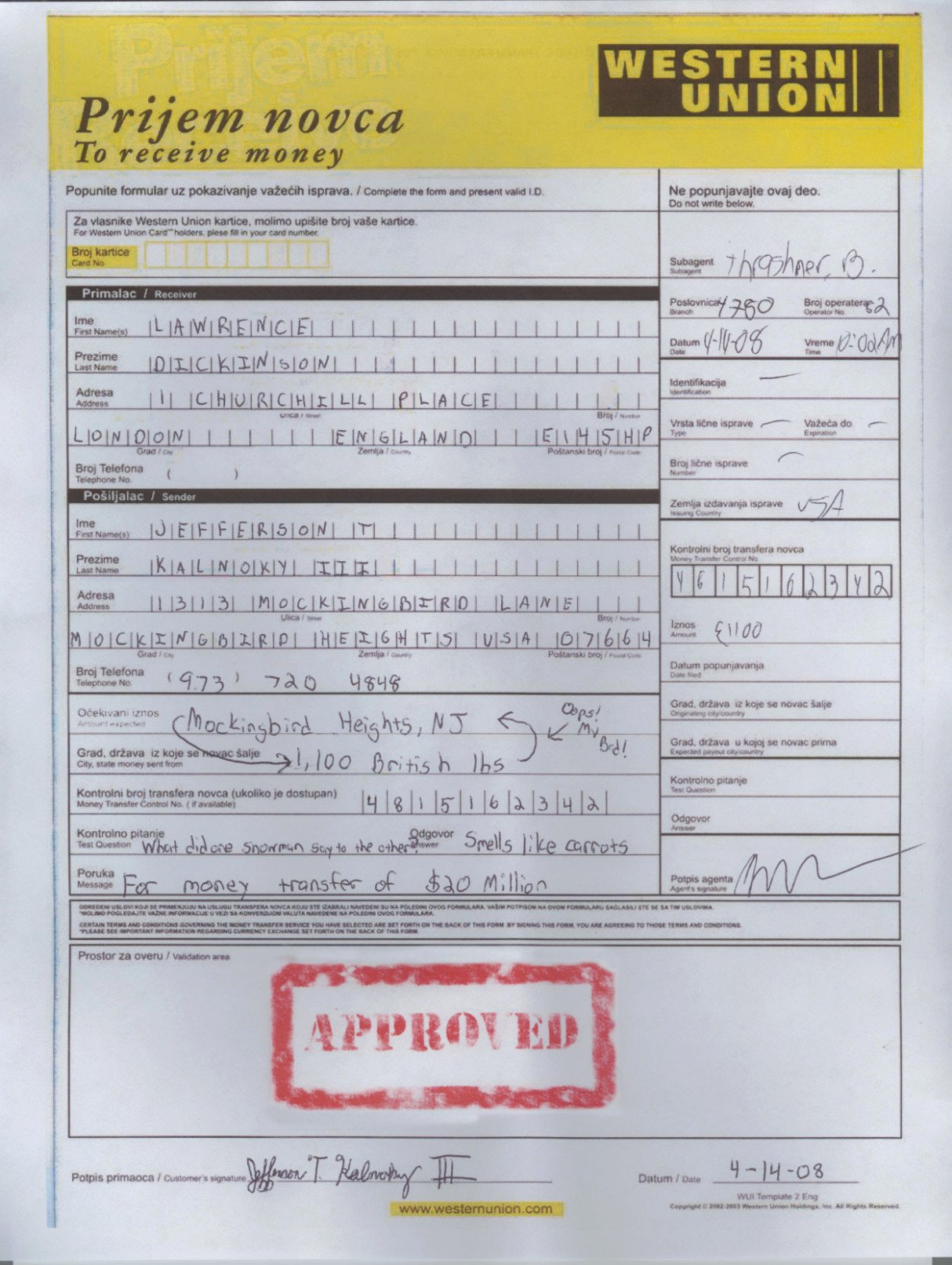 Western Union Money order Template Beautiful the Death Fake Western
