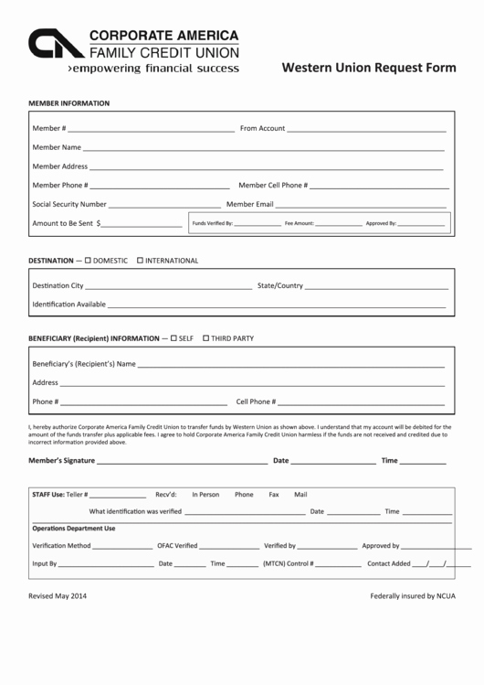 Western Union Money order Template Lovely top 11 Western Union form Templates Free to In