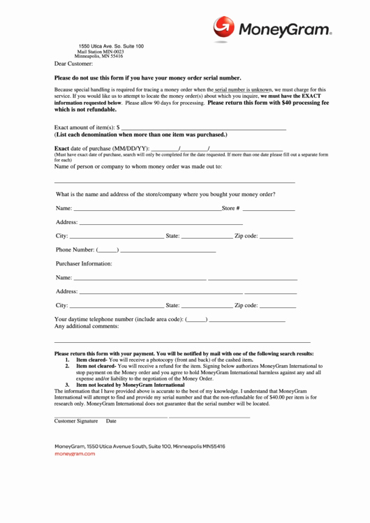 Western Union Money order Template Unique top Moneygram form Templates Free to In Pdf format