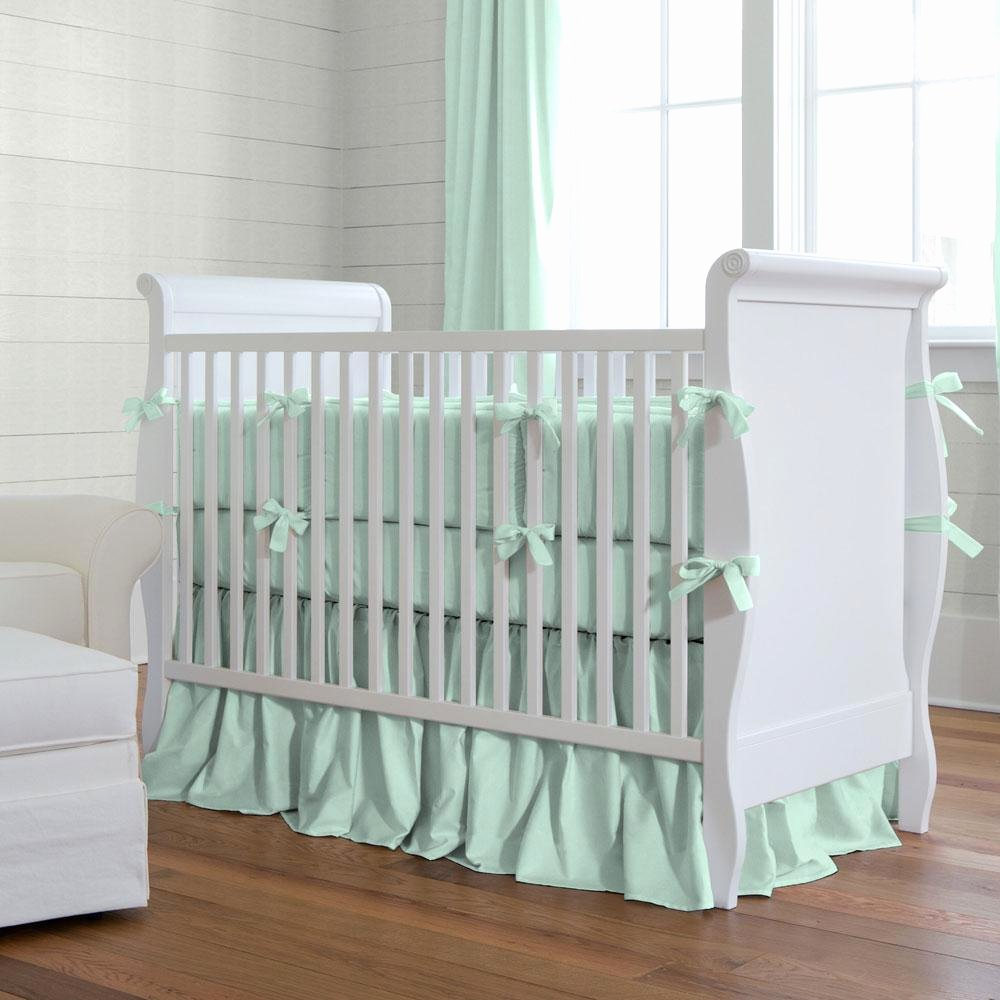 What is A Crib Sheet Beautiful solid Mint Crib Bedding Girl Crib Bedding