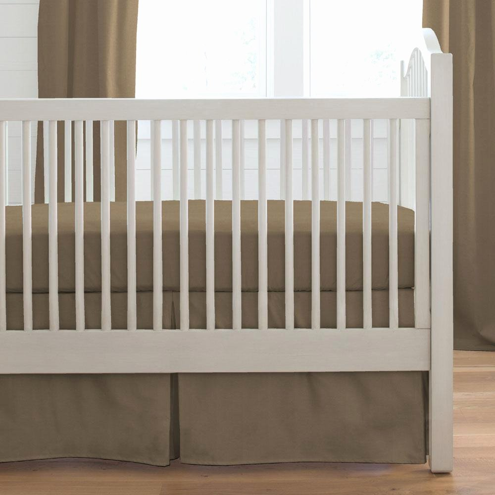What is A Crib Sheet Beautiful solid Mocha Brown 2 Piece Crib Bedding Set