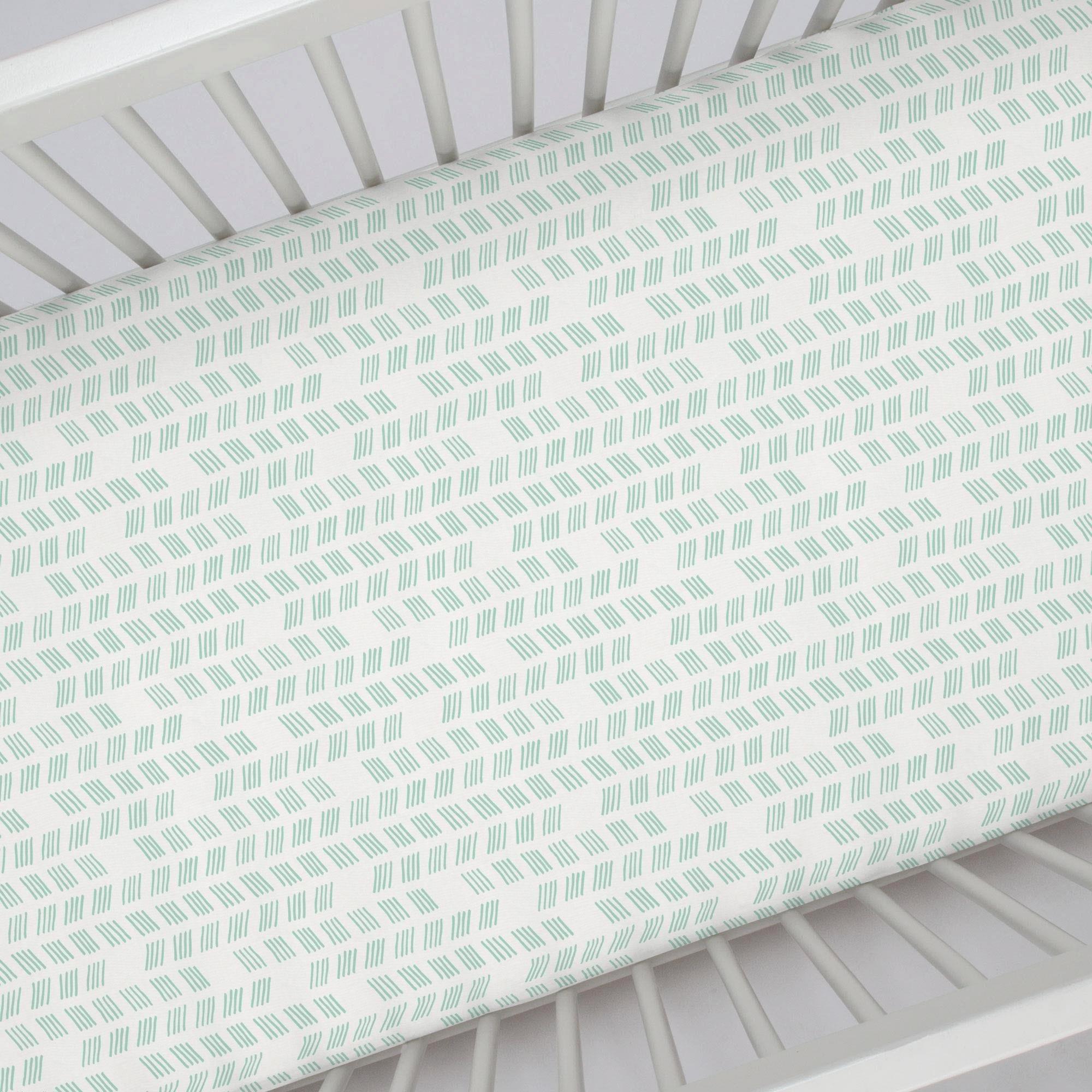 What is A Crib Sheet Best Of Mint Tribal Herringbone Crib Sheet