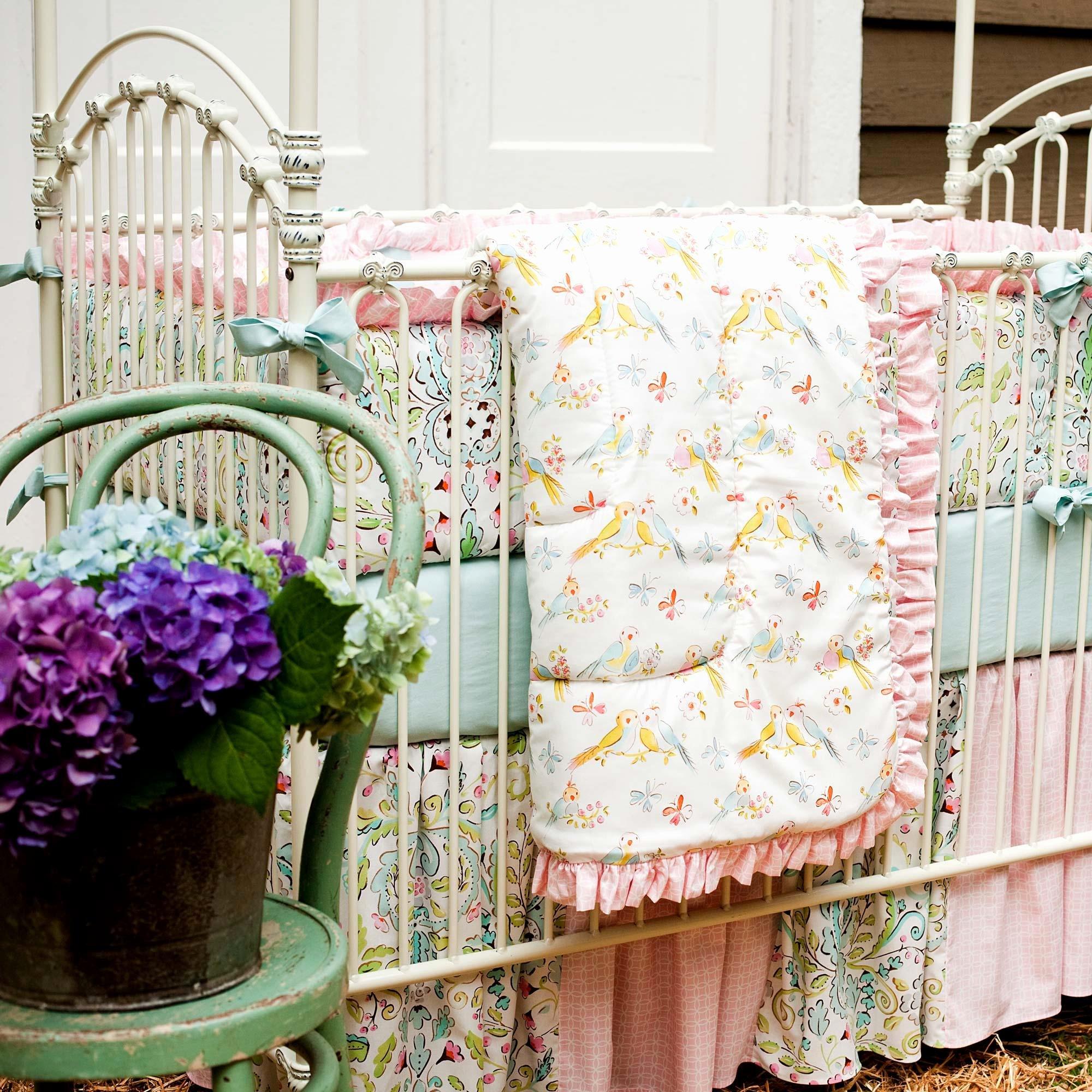What is A Crib Sheet Elegant Love Birds Crib Bedding