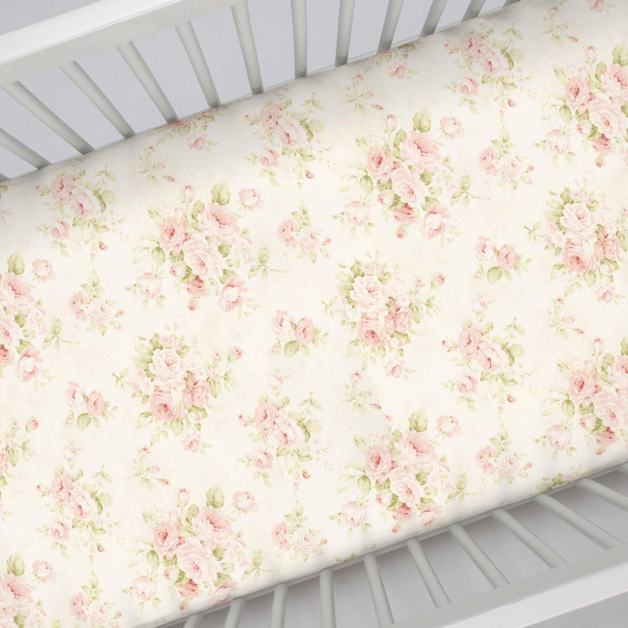 What is A Crib Sheet Fresh Pink Floral Crib Sheet