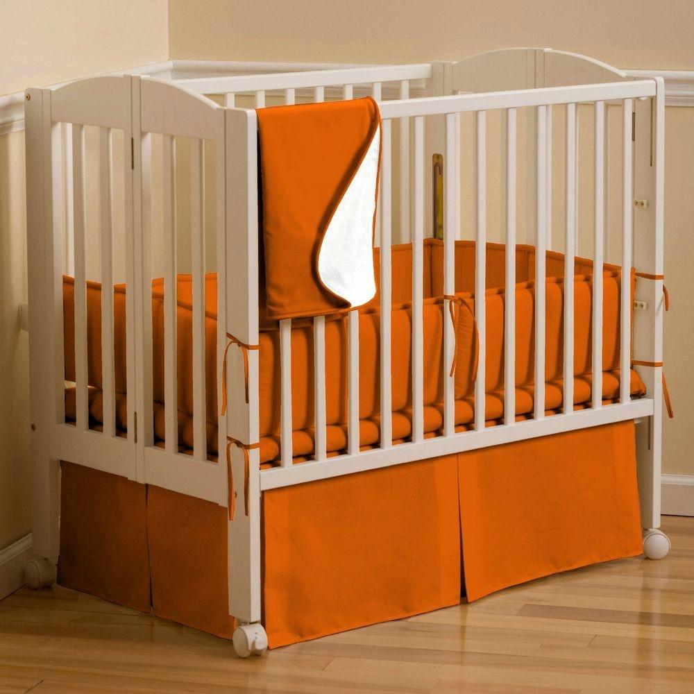 What is A Crib Sheet Fresh solid orange Portable Crib Bedding