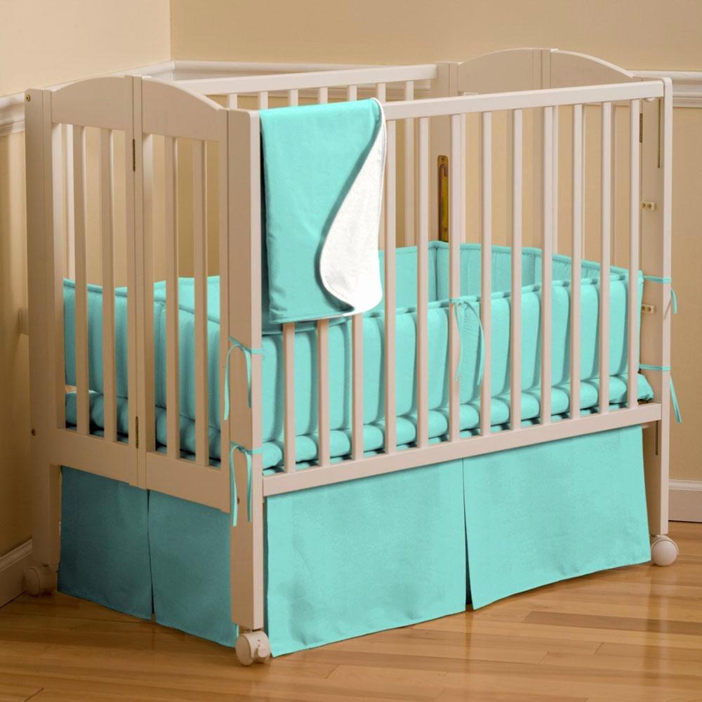 What is A Crib Sheet Fresh solid Teal Mini Crib Bumper