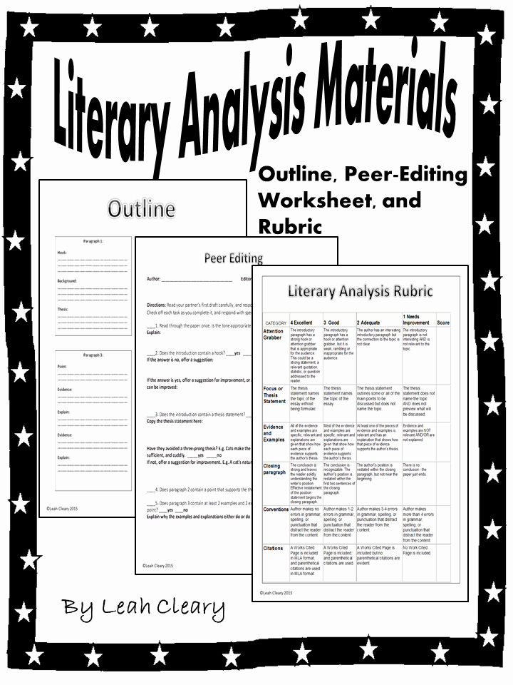 What is A Literary Essay Best Of Literary Analysis Handouts Teacher Resources