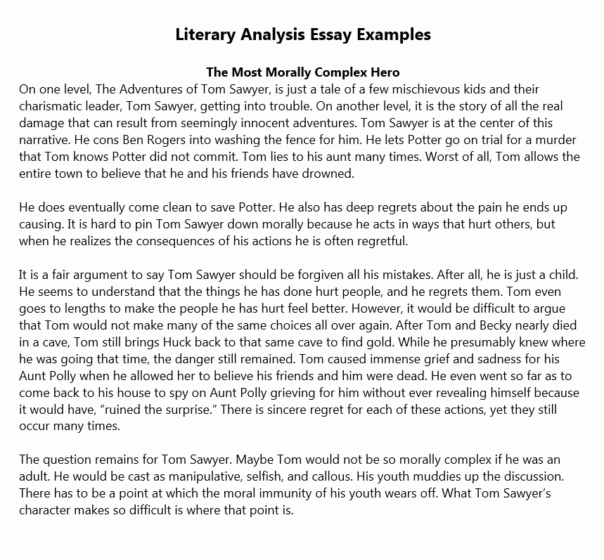 What is A Literary Essay Fresh Literary Analysis Essay Example Tips for Beginners
