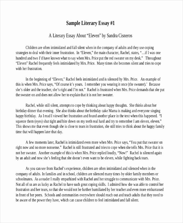 What is A Literary Essay Luxury 6 Literary Essay Examples Samples
