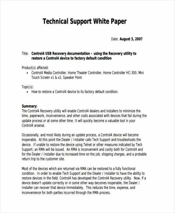 White Paper Examples Awesome 38 Sample White Paper Templates
